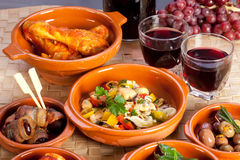 Collection of tapas foods. Stock Images