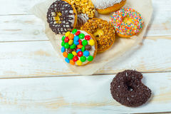 Collection of tasty donuts Royalty Free Stock Images