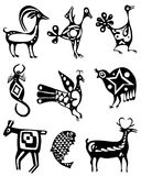 Collection of tattoos of animals. On a white background Royalty Free Illustration