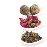 Collection of tea. Isolated on white background Royalty Free Stock Photography