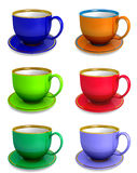 Collection of teacups Royalty Free Stock Photo