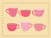 Collection of teacups Royalty Free Stock Photos