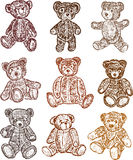 Collection of the teddy bears Royalty Free Stock Image