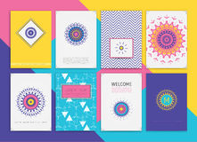 Collection of Templates Stock Images