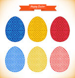Collection of templates for eggs design. Stock Image