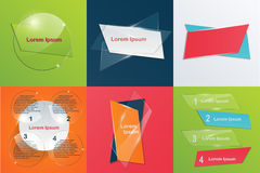 Collection of templates Modern infographic  Royalty Free Stock Photography