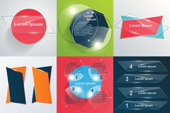 Collection of templates Modern infographic vector Royalty Free Stock Images