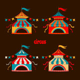 Collection of tents for the circus Stock Images