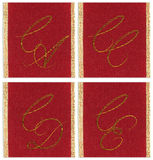 Collection of textile monograms Royalty Free Stock Photos