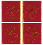 Collection of textile monograms Stock Photo