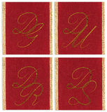 Collection of textile monograms Royalty Free Stock Photo