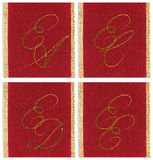 Collection of textile monograms Stock Photography