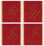 Collection of textile monograms Stock Image