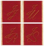 Collection of textile monograms Stock Photos