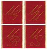 Collection of textile monograms Royalty Free Stock Image