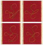 Collection of textile monograms Royalty Free Stock Photography