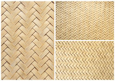 Collection of texture bamboo basket for background Royalty Free Stock Photo