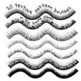 Collection of  texture pattern  brushes. Royalty Free Stock Photo