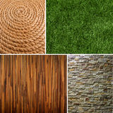Collection of textures backgrounds Stock Image