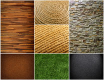 Collection of textures backgrounds Stock Photo