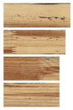Collection textures wood with extraneous dirt, stains and mixed connections narusheniy. isolated on white background. Royalty Free Stock Photo