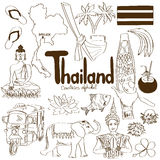 Collection of Thailand icons Stock Photos