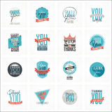 Collection of Thank You Card Designs Stock Image