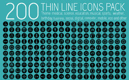 Collection thin lines pictogram icon set concept Royalty Free Stock Images