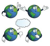 Thinking Earth globe set Stock Photos