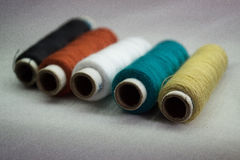 Collection of thread rolls Stock Photography
