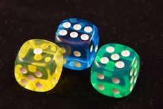 Three Dice Royalty Free Stock Images