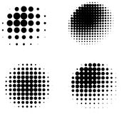 Collection of three dimensional halftone shaded spheres Royalty Free Stock Image