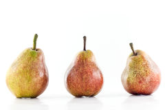 Collection of three pears Royalty Free Stock Image