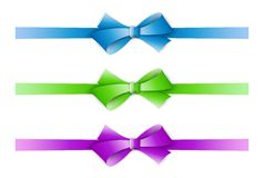 Collection of the three ribbons Royalty Free Stock Photo