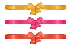 Collection of the three ribbons Stock Photography