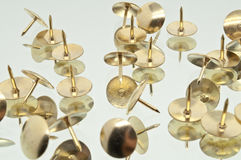 A Collection of Thumbtacks Royalty Free Stock Images
