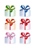 Collection of Tied's Boxes with Gifts stock image
