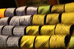 Collection of ties - 2. Collection of ties: gold and silver themes Stock Photos