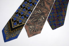 Collection of ties Royalty Free Stock Photos