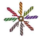 Collection of ties for suits of different colors Stock Image