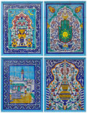Collection tile painting Royalty Free Stock Photo