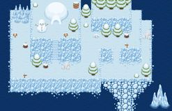 The Arctic Top Down Game Tileset. Collection of tiles and objects for creating 2d top down video games with freezing arctic theme Stock Images