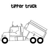 Collection of tipper truck vector Stock Images