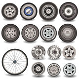 Collection of tires Royalty Free Stock Image