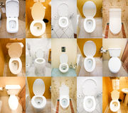 Collection of toilets Royalty Free Stock Images