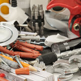 Collection tools Stock Image