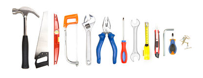Collection of tools on high definition Royalty Free Stock Images