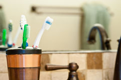 Collection of Toothbrushes Royalty Free Stock Images