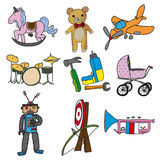 Collection of toys Royalty Free Stock Images