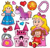 Collection with toys theme 1 stock illustration